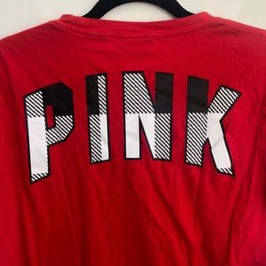 Victoria's Secret PINK red short sleeve tee small